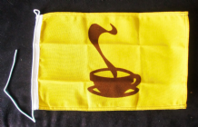 NAUTICAL FLAG : COFFEE  30cm x 20cm